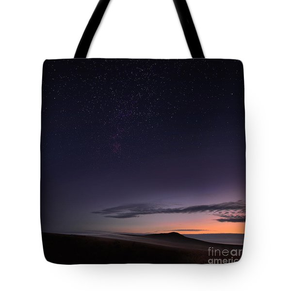 Evening Mist Rising On The Cronk Tote Bag