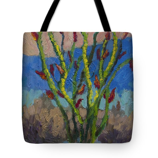 Evening Ocotillo Tote Bag
