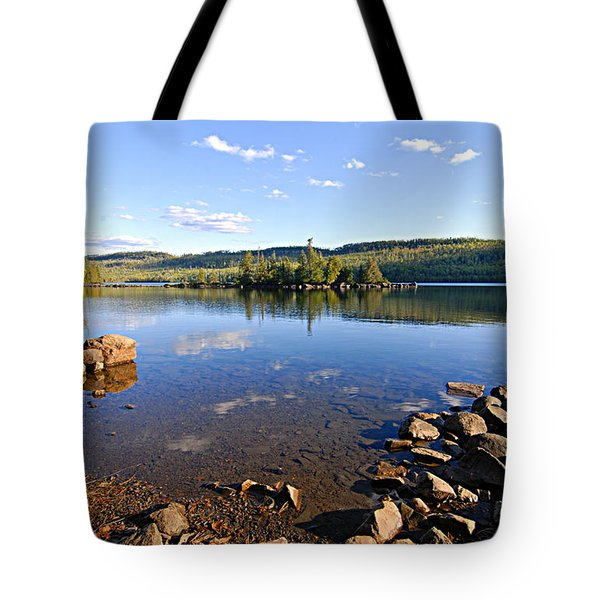 Evening On Cedar Lagoon Pine Lake Tote Bag by Larry Ricker