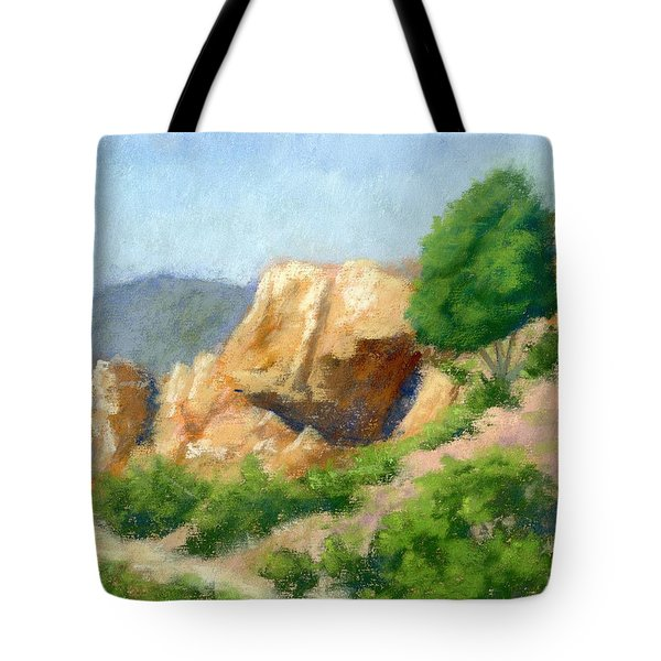 Evening On The Bench Plein Air Tote Bag