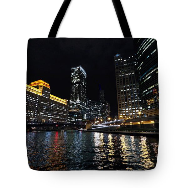Tote Bag featuring the photograph Evening On The Chicago River by Jackson Pearson