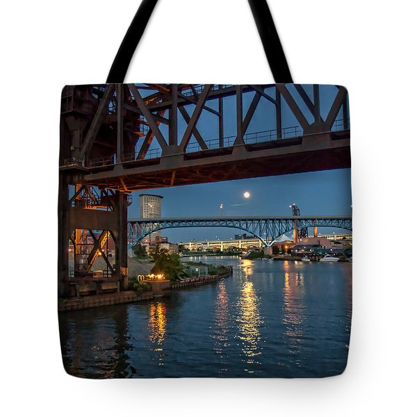 Evening On The Cuyahoga River Tote Bag