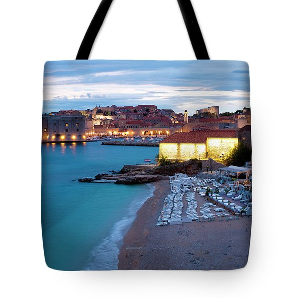 Evening Over Dubrovnik Tote Bag by Rae Tucker