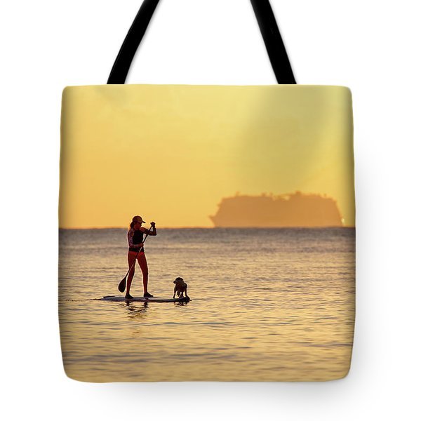 Tote Bag featuring the photograph Evening Paddle by David Buhler