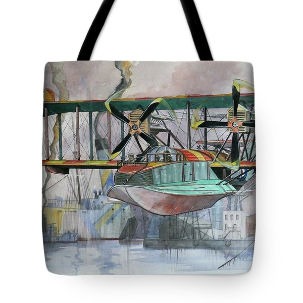 Evening Patrol Tote Bag by Ray Agius