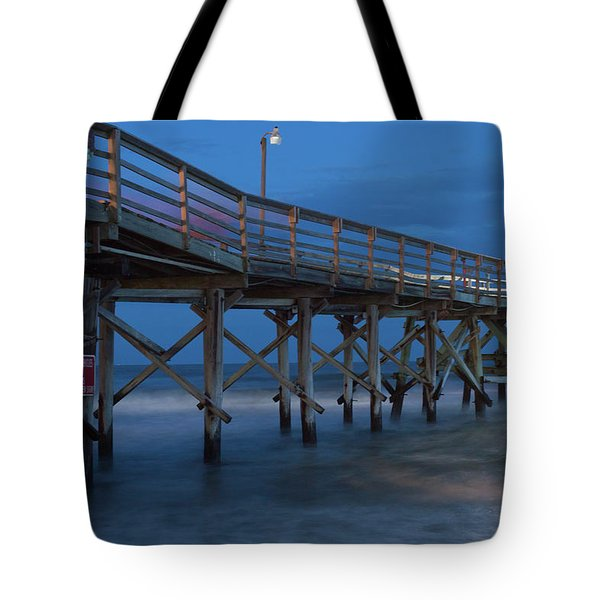 Evening Pier Tote Bag