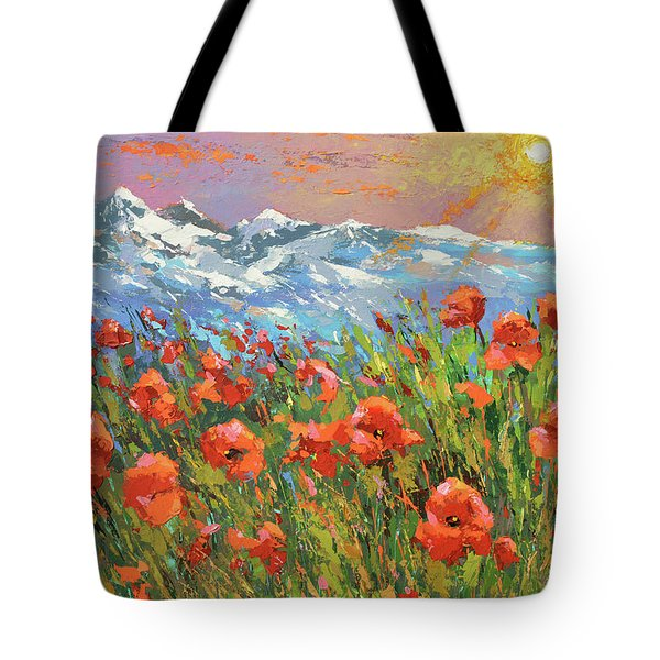 Evening Poppies  Tote Bag