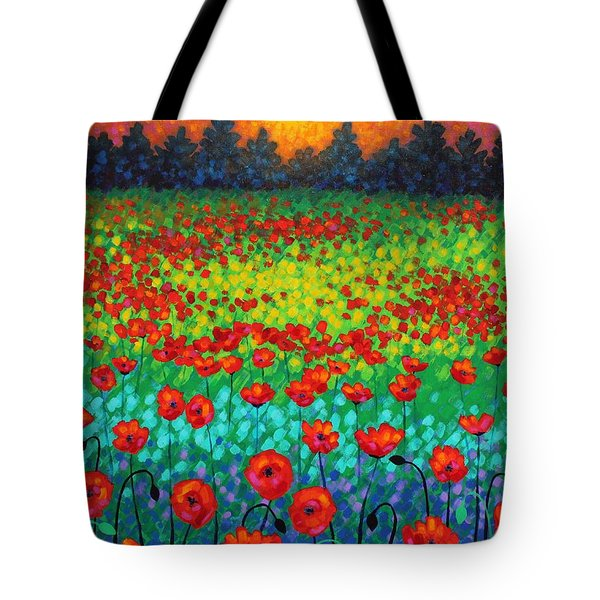 Evening Poppies Tote Bag by John  Nolan