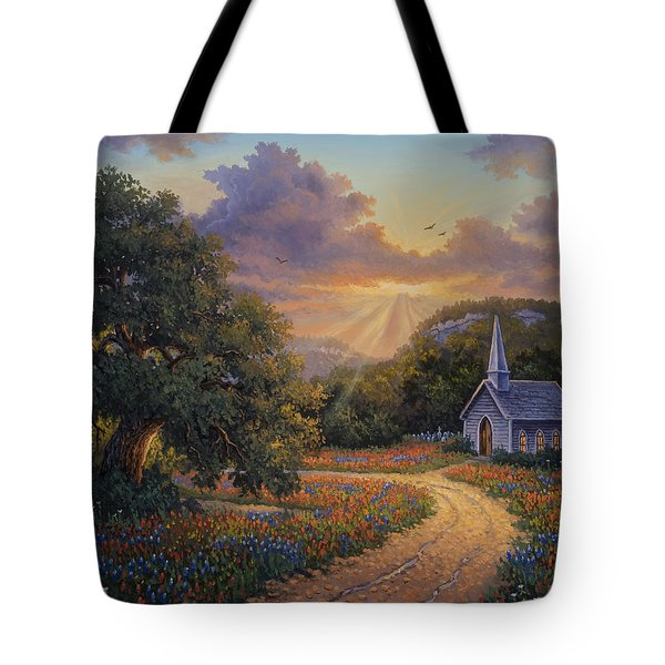 Tote Bag featuring the painting Evening Praise by Kyle Wood