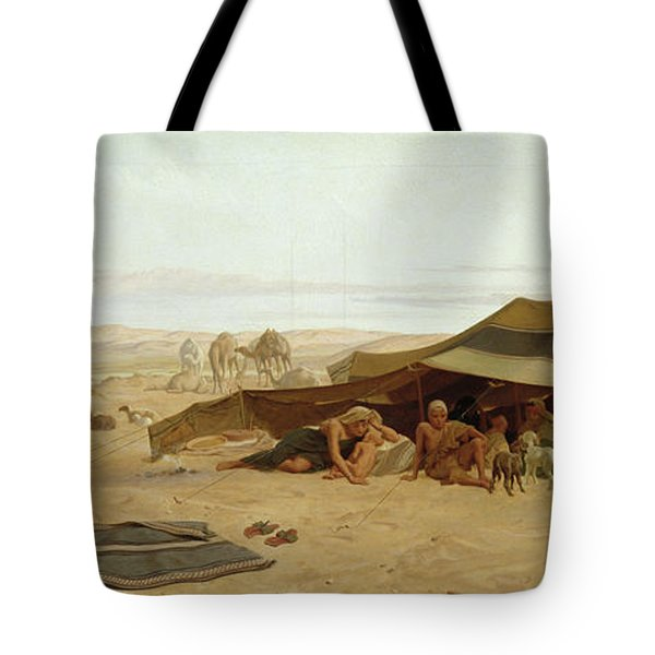 Evening Prayer In The West Tote Bag by Frederick Goodall