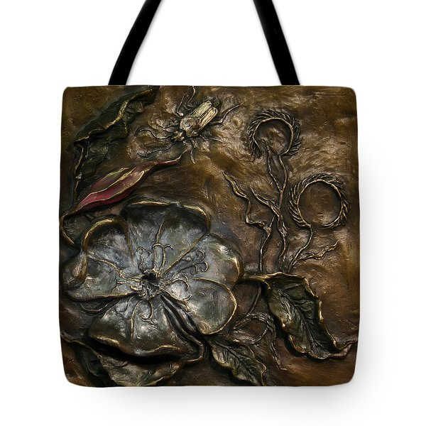 Tote Bag featuring the sculpture Evening Primrose by Dawn Senior-Trask