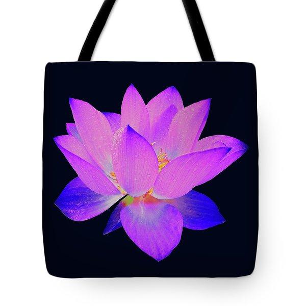 Evening Purple Lotus  Tote Bag