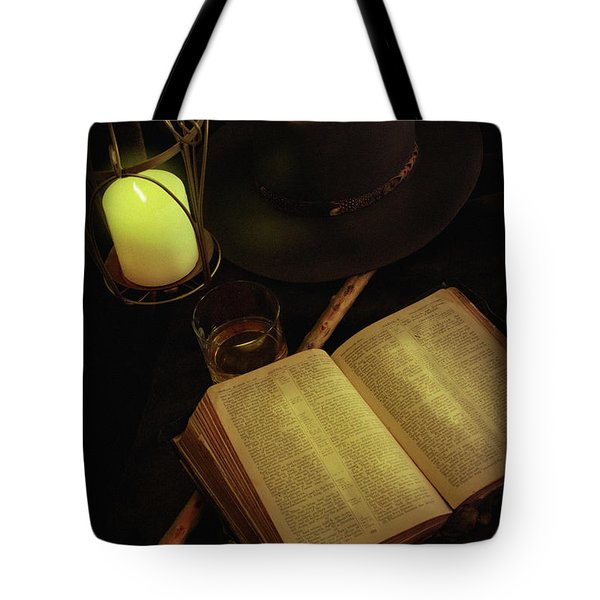 Tote Bag featuring the photograph Evening Reading by Ann Lauwers