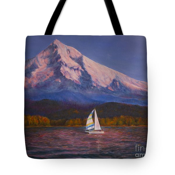 Evening Sail Tote Bag by Jeanette French
