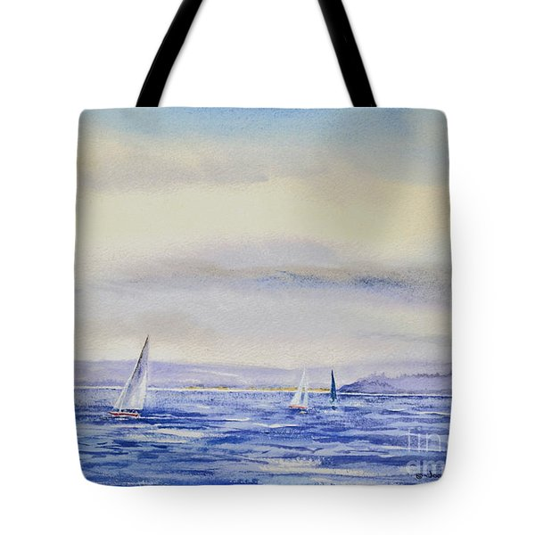 Evening Sail On Little Narragansett Bay Tote Bag by Joan Hartenstein