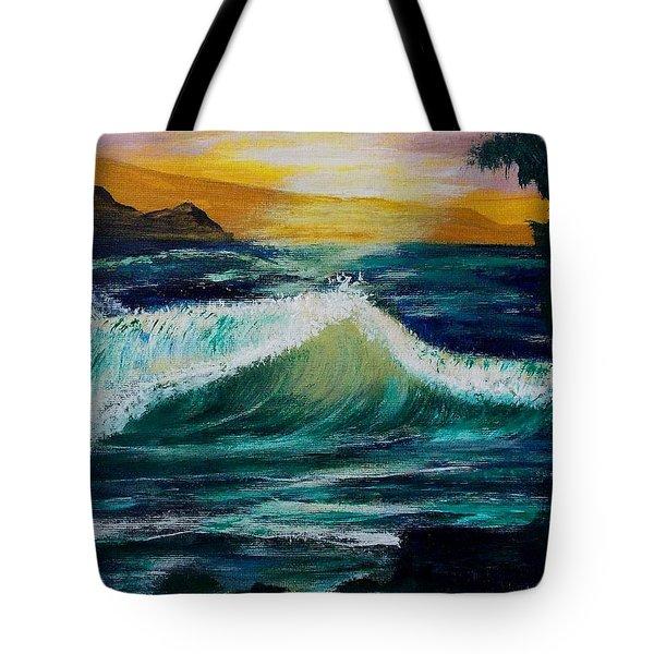 Evening Seascape 1 Tote Bag