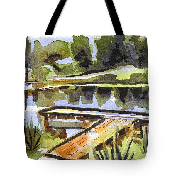 Evening Shadows At Shepherd Mountain Lake Tote Bag