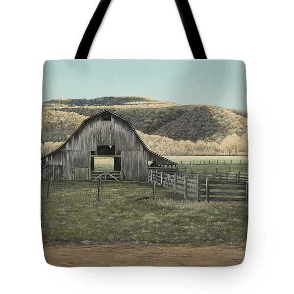 Evening Shadows In Boxley Valley Tote Bag by Mary Ann King