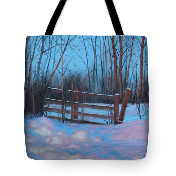 Tote Bag featuring the painting Evening Show by Tammy Taylor