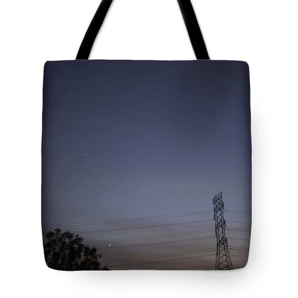 Tote Bag featuring the photograph Evening Sky by Anne Rodkin