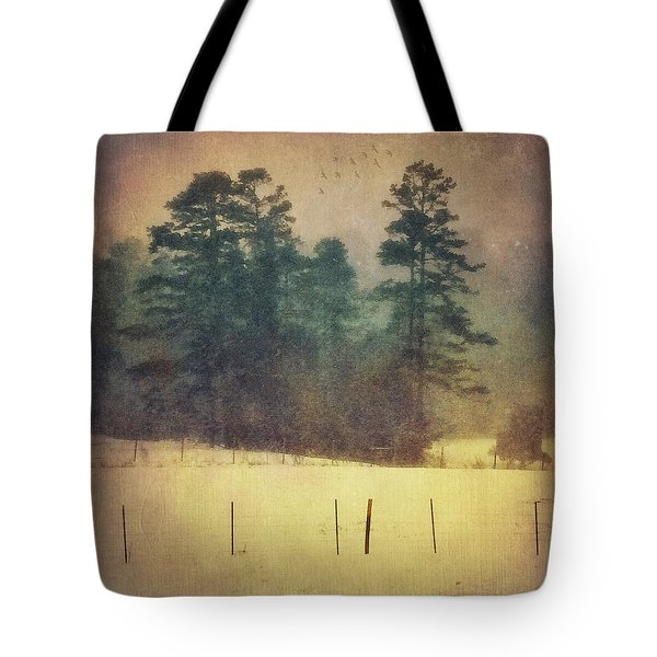 Evening Snow Glow Tote Bag
