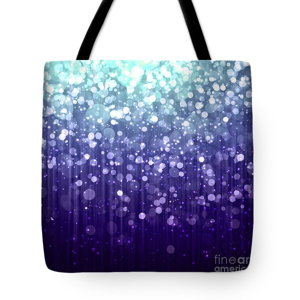 Evening Sparkle Abstract Sparkle Art Tote Bag