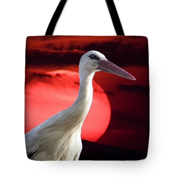 Evening Stork  Tote Bag