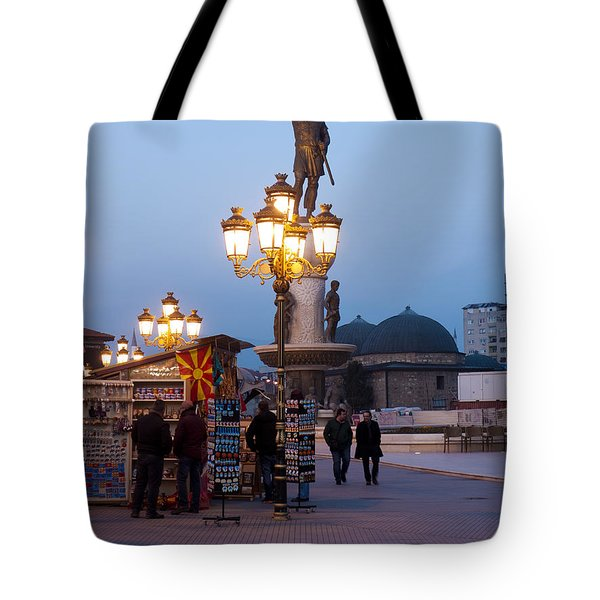 Evening Stroll In Skopje Tote Bag by Rae Tucker