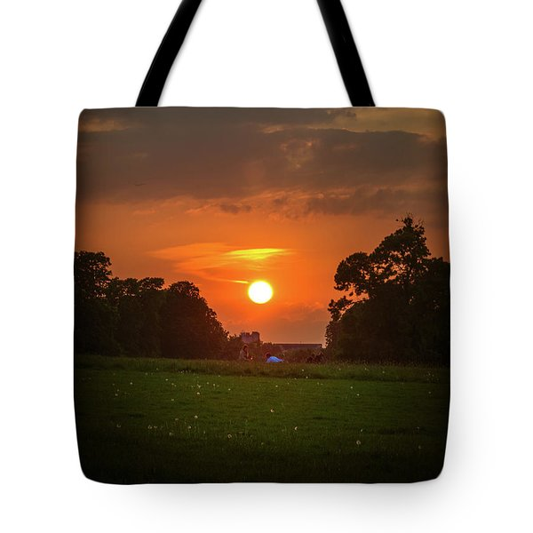 Tote Bag featuring the photograph Evening Sun Over Picnic by Lenny Carter