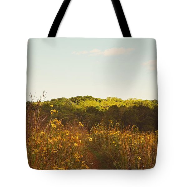 Tote Bag featuring the photograph Evening Sunset Glow by Nikki McInnes