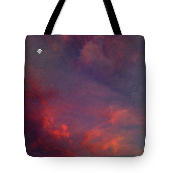 Evening Sunset Paints The Sky Tote Bag