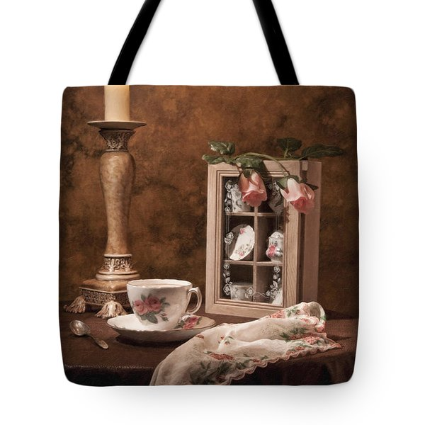 Evening Tea Still Life Tote Bag by Tom Mc Nemar