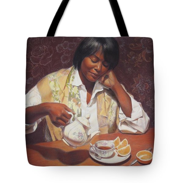 Tote Bag featuring the painting Evening Tea by Sue Halstenberg