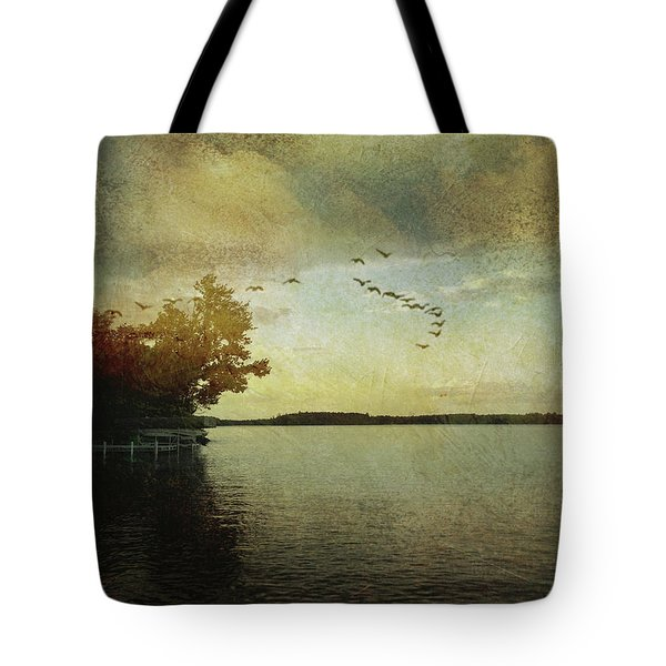 Evening, The Lake Tote Bag