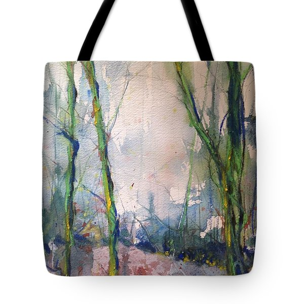 Evening Trees Tote Bag