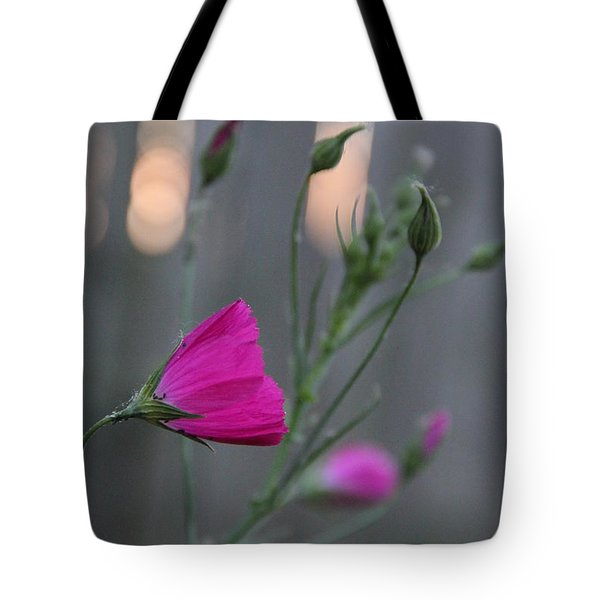 Evening Winecup Tote Bag