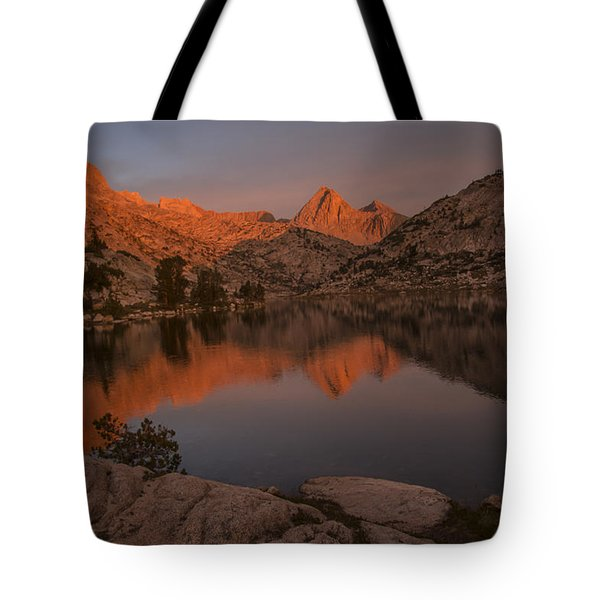 Evening's Final Glow Tote Bag