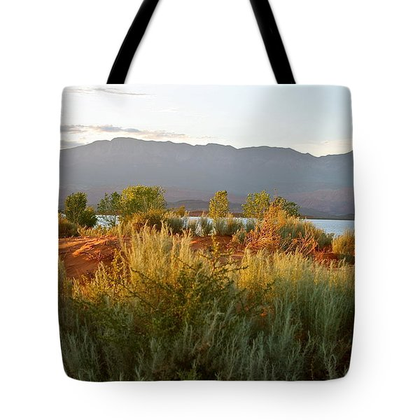Evenings Light On The Red Sands Tote Bag