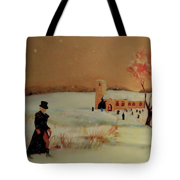 Tote Bag featuring the painting Evensong by Valerie Anne Kelly