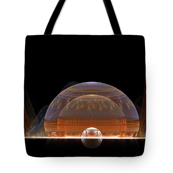 Tote Bag featuring the digital art Event Horizon by Richard Ortolano
