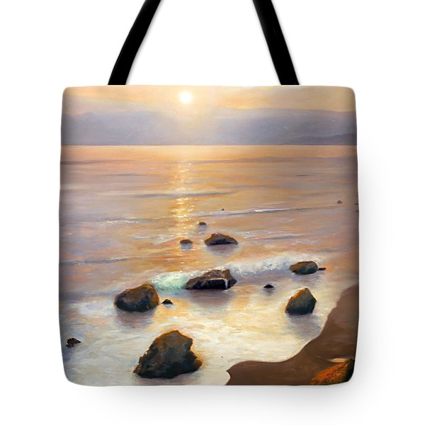 Tote Bag featuring the painting Eventide by Michael Rock