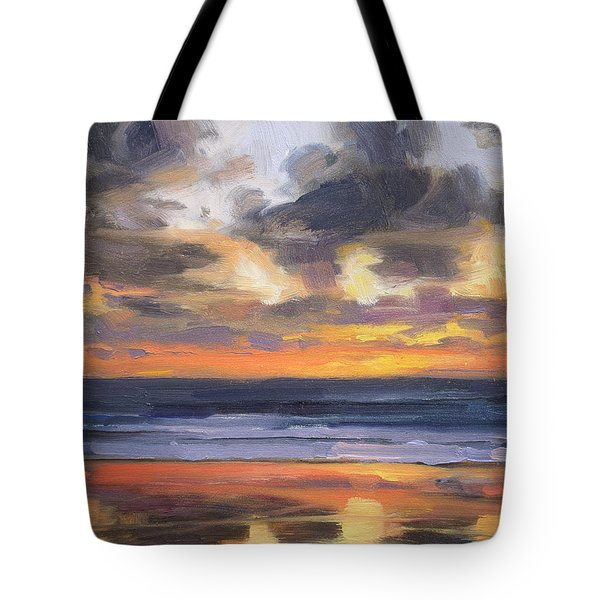 Tote Bag featuring the painting Eventide by Steve Henderson