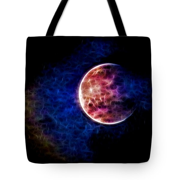 Ever Changing Moon Color Waves Tote Bag