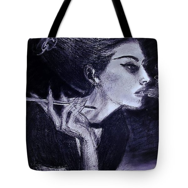 Tote Bag featuring the drawing Ever Dream by Jarko Aka Lui Grande