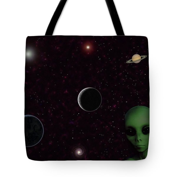 Tote Bag featuring the digital art Ever Wonder What Is Out There by Anthony Murphy