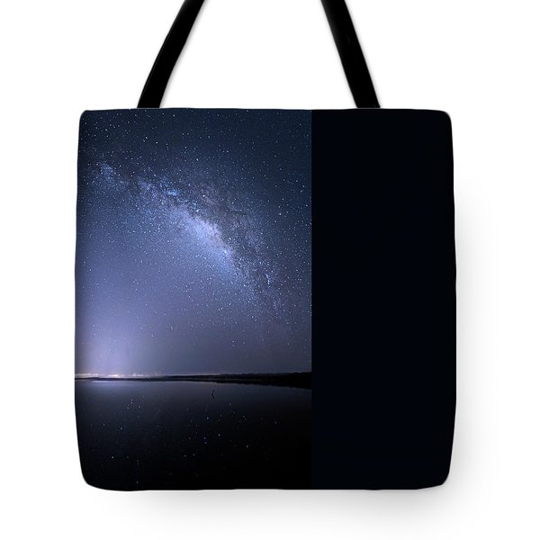 Tote Bag featuring the photograph Everglades National Park Milky Way by Mark Andrew Thomas