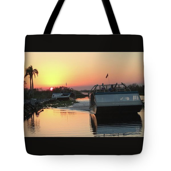 Everglades Sunset Tote Bag