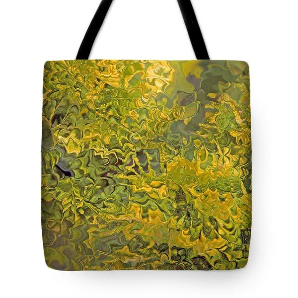 Evergreen Abstract Tote Bag