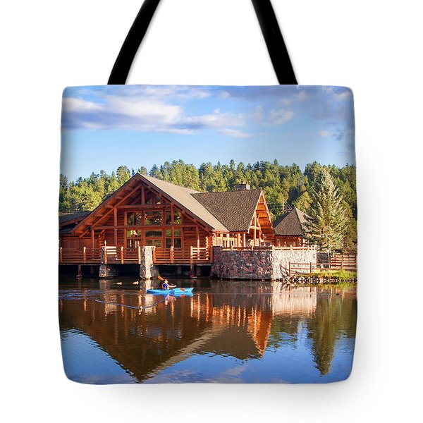 Evergreen Boathouse Tote Bag