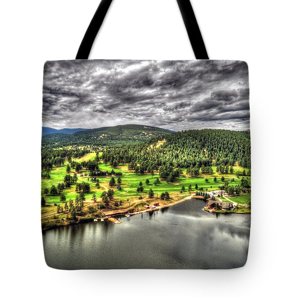 Evergreen Lake And Golf Course Tote Bag